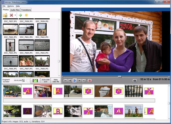 برنامج مجانى لانشاء عارض للصور والشرائح بشكل مميز Bolide Slideshow Creator2-0
